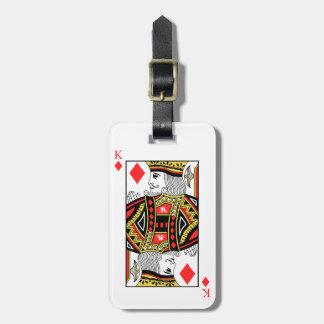 King of Diamonds Luggage Tag