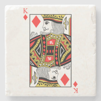King of Diamonds Stone Coaster