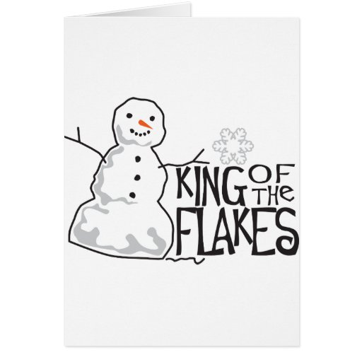 King Of Flakes Greeting Cards