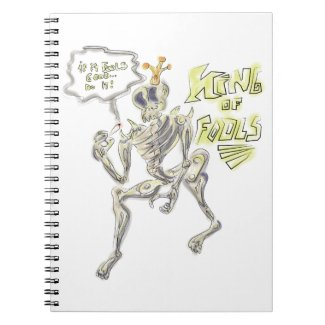 King of Fools Sketch Book Spiral Notebooks