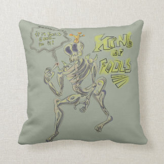 King Of Fools Throw Pillow