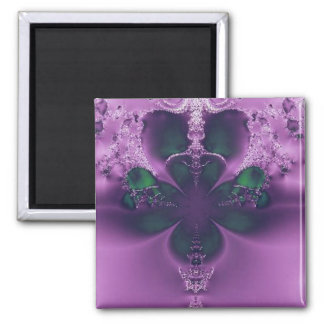 King of Four Leaf Clovers Abstract Square Magnet