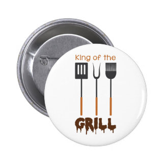 King Of Grill 2 Inch Round Button