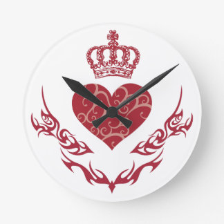 King of heart round clock