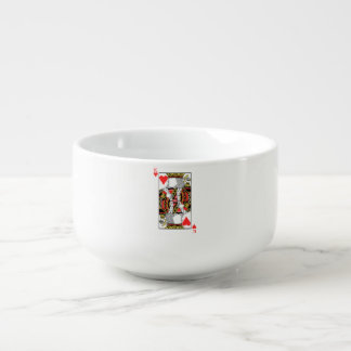 King of Hearts - Add Your Image Soup Bowl With Handle
