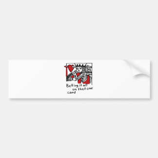 KIng of Hearts Bumper Sticker