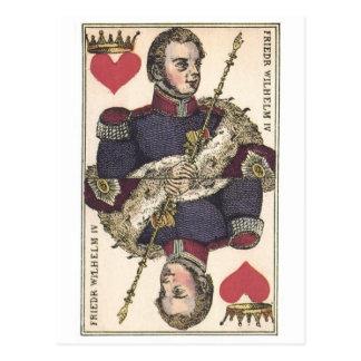 KING OF HEARTS Vintage Print Friedr Wilhelm IV Postcard