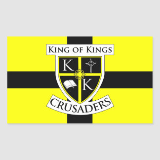 King of Kings Crusaders Flag Sticker