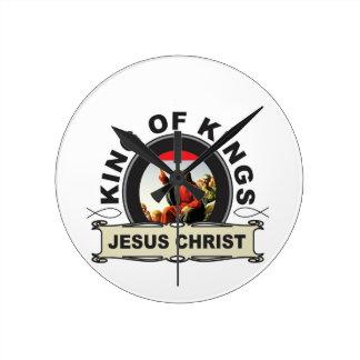 King of kings JC Round Clock