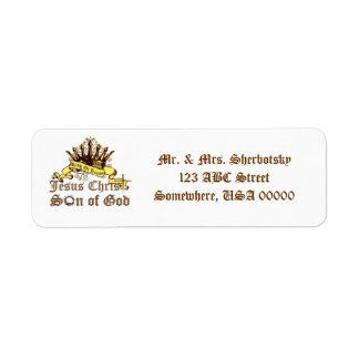 King of Kings Religious Return Address Label