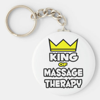 King of Massage Therapy Basic Round Button Keychain