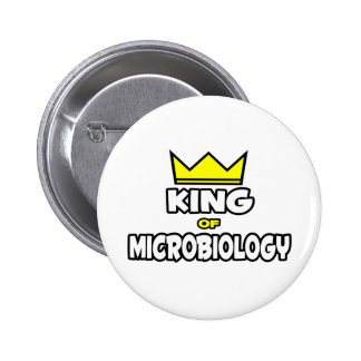 King of Microbiology 2 Inch Round Button