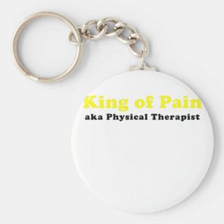King of Pain aka Physical Therapist Basic Round Button Keychain