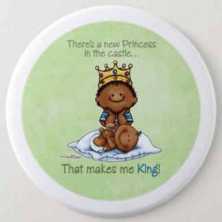 King of Princess African American Big Bro button