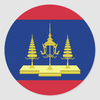 King Of Siam, Thailand flag Classic Round Sticker