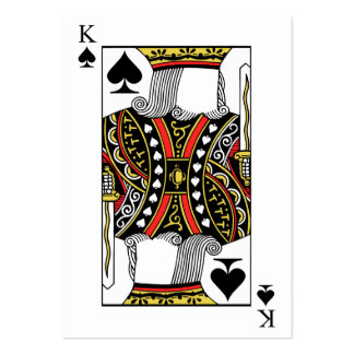 King of Spades - Add Your Image Large Business Card