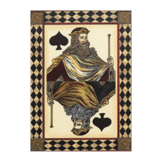 King of Spades Playing Card by Vision Studio Acrylic Print
