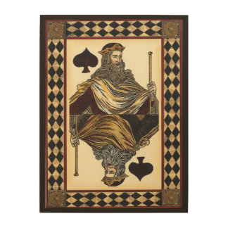 King of Spades Playing Card by Vision Studio Wood Print