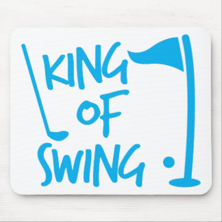 King of SWING golf ball and golf club Mousemat