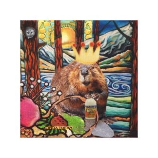 King of the Beavers Canvas Print