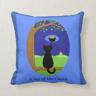 King of the Castle Reversible Throw Pillow