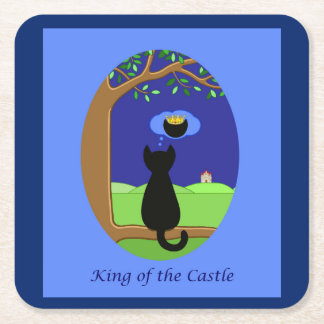 King of the Castle Square Paper Coaster