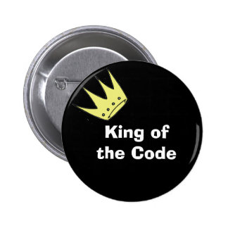 King of the Code 2 Inch Round Button