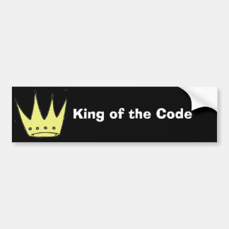 King of the Code bumper sticker