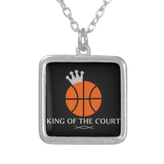 King of The Court Basketball Necklace