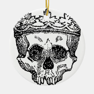 King of the Dead Skull Round Ceramic Ornament