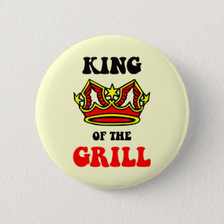 King of the Grill 2 Inch Round Button