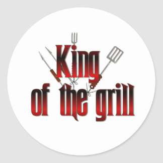 King of the grill classic round sticker