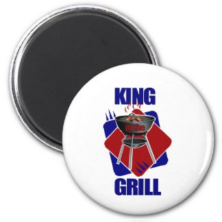 King of the Grill Cookout 2 Inch Round Magnet