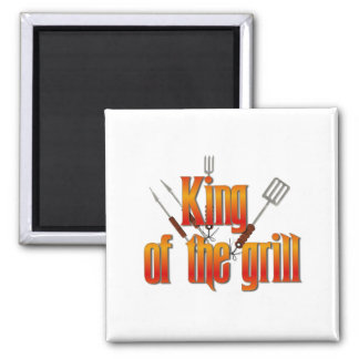 King of the Grill Refrigerator Magnets