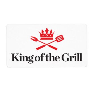 King of the Grill Shipping Label