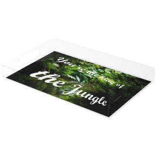 King of the jungle acrylic tray