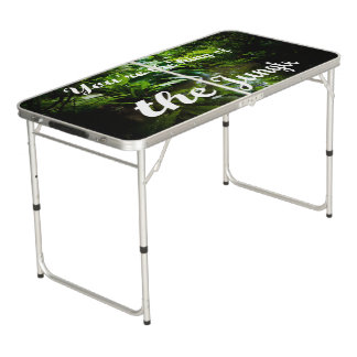 King of the jungle beer pong table