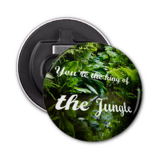 King of the jungle button bottle opener