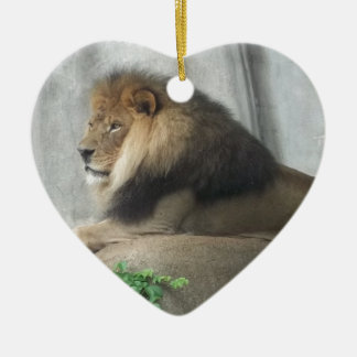 King of the Jungle Ceramic Ornament
