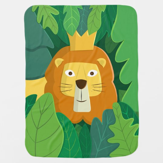 King of the Jungle Cute Lion Baby Blanket