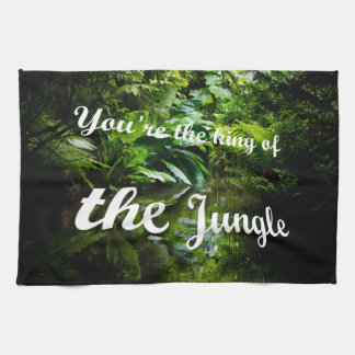 King of the jungle kitchen towel