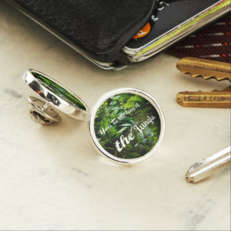 King of the jungle lapel pin