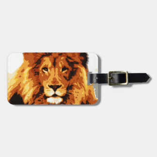 King of the jungle luggage tag