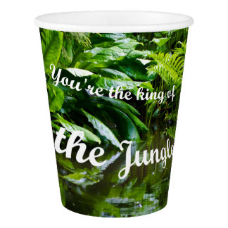 King of the jungle paper cup