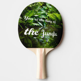 King of the jungle ping pong paddle