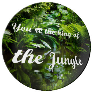 King of the jungle porcelain plates