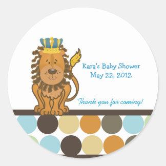 King of the Jungle Round Custom Favor Sticker