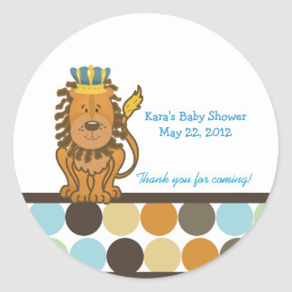 King of the Jungle Round Custom Favor Sticker