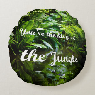 King of the jungle round pillow