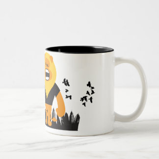 king of the jungle Two-Tone coffee mug